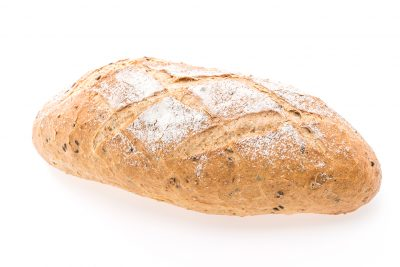 Sour Dough bread isolated on white background